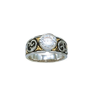 Montana Silversmiths Ladies Crystal Shine Solitaire Ring - Pete's Town Western Wear