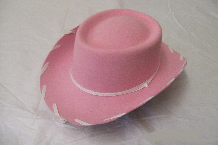 M&F Kids Felt Collection Pink Woody Felt Cowgirl Hat - Pete's Town Western Wear