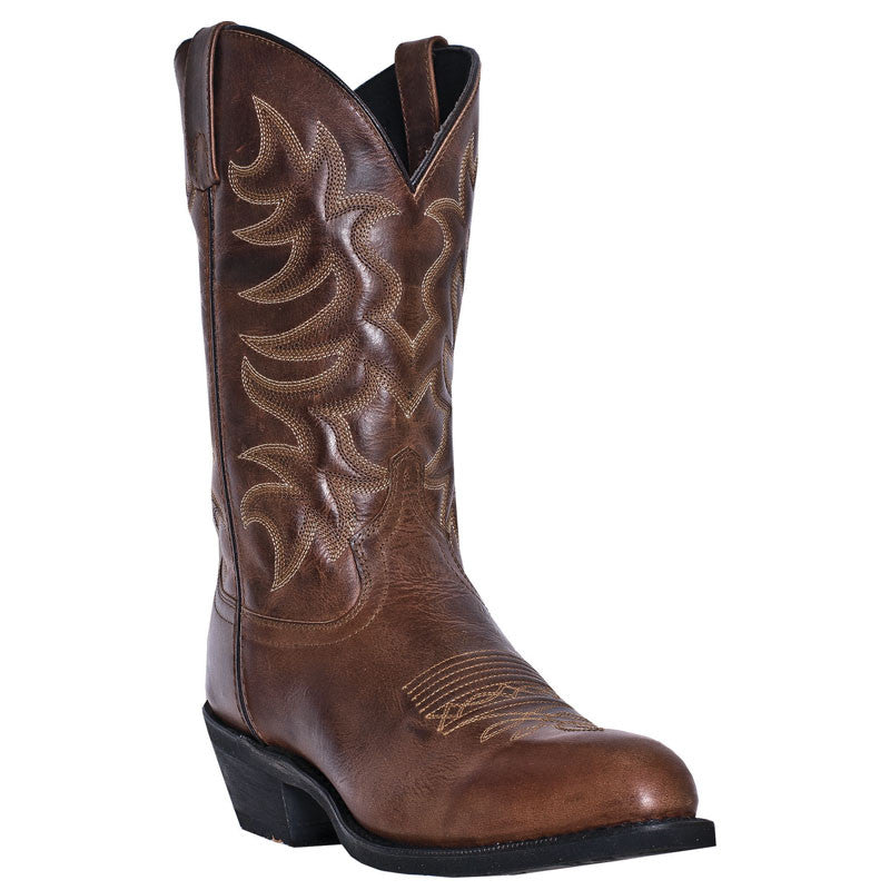 "Laredo Men's 12"" Rust All Waxy Leather Cowboy Boot - Pete's Town Western Wear"