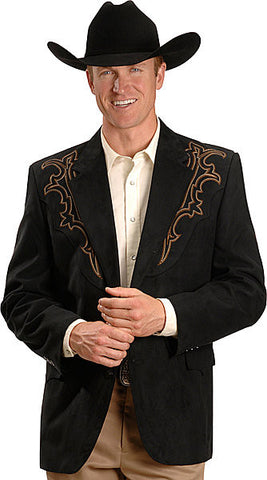 Men's Circle S Galveston Sport Coat Black with Design - Pete's Town Western Wear