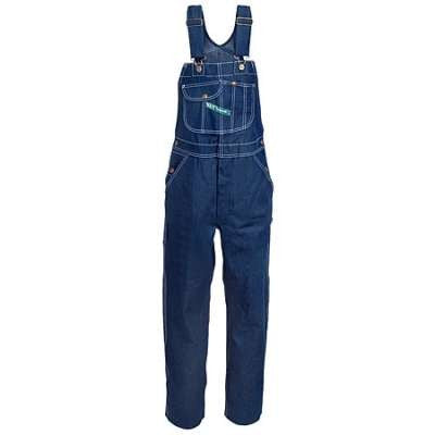 Men's Key Bib Overalls Indigo PLUS SZ Cotton Denim Bib Overalls - Pete's Town Western Wear