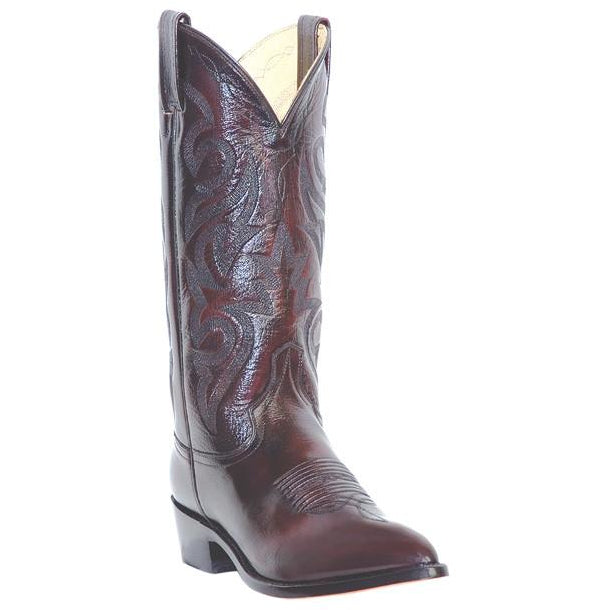 Dan Post Men's Black Cherry Leather Cowboy Boot