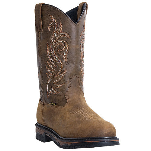 "Laredo Mens Work 11"" Tan Cheyenne Waterproof Work Boots - Pete's Town Western Wear"