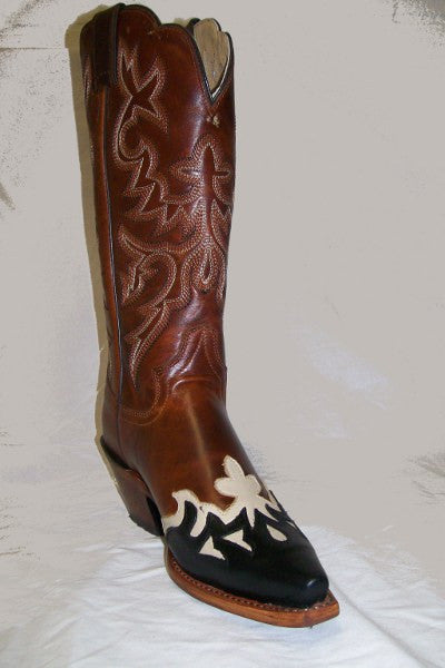 "Justin Womens Western 13"" Saddle Torino Cowgirl Boots - Pete's Town Western Wear"