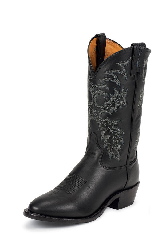 Tony Lama Mens Americana Black Stallion Round Toe Cowboy Boots - Pete's Town Western Wear