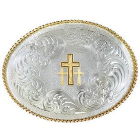 Montana Silversmith Triple Cross Buckle - Pete's Town Western Wear