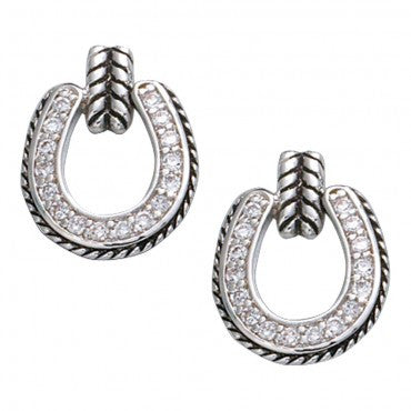 Montana Silversmiths Ladies Crystal Horseshoe Drop Earrings - Pete's Town Western Wear