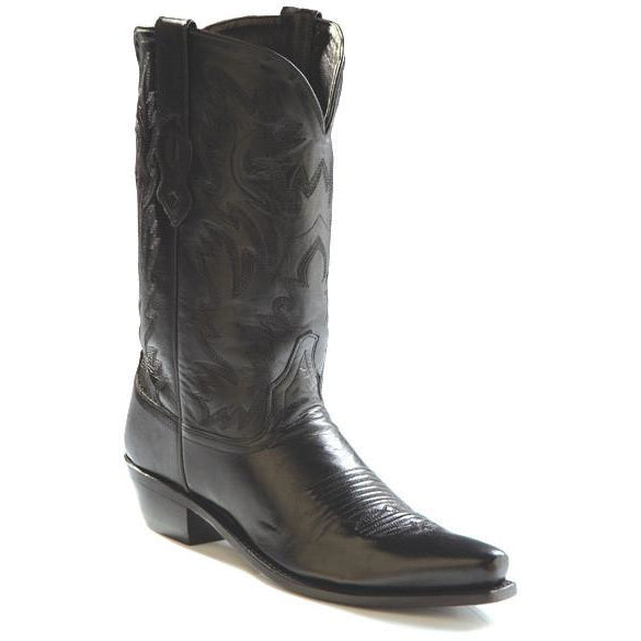 Jama Old West Men's Fashion Wear Cowboy Boots Black - Pete's Town Western Wear