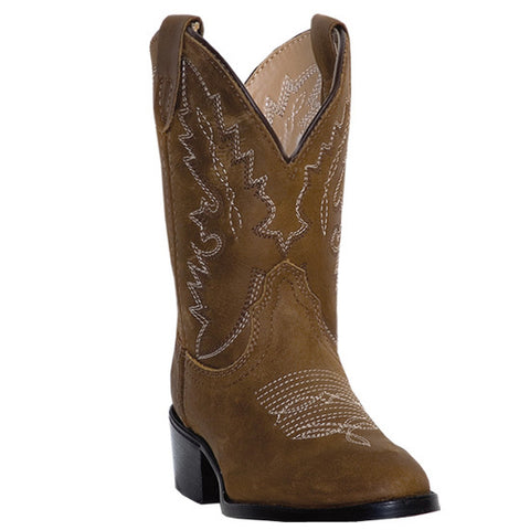 Dan Post Toddler Cowboy Boots All Tan Distressed Leather - Pete's Town Western Wear