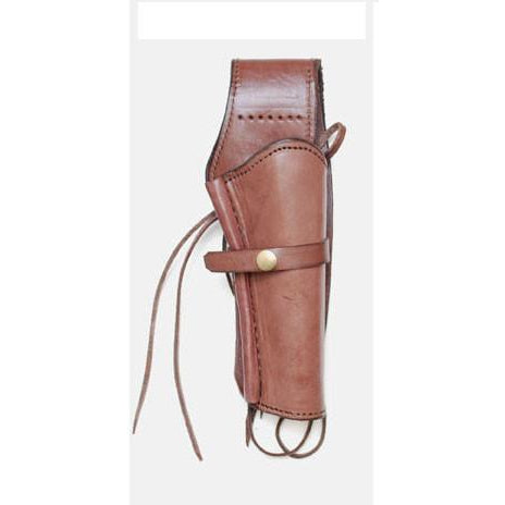 Hand Tooled Choco Smooth Leather Western Ties Gun Belt Holster - Pete's Town Western Wear