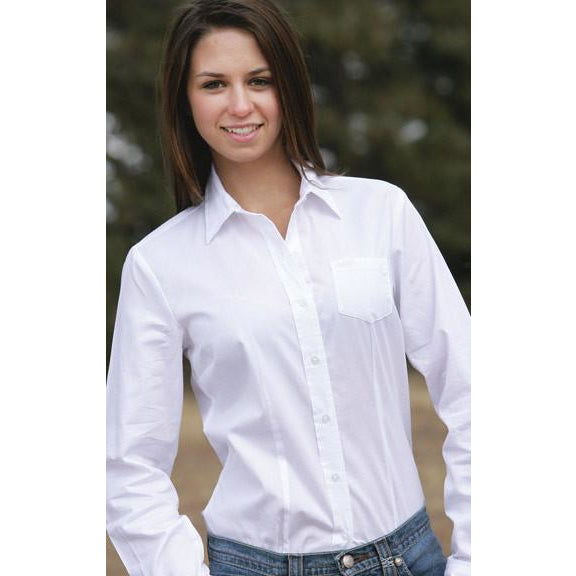 Cruel Long Sleeve Ladies White Logo Embroidery Shirt - Pete's Town Western Wear