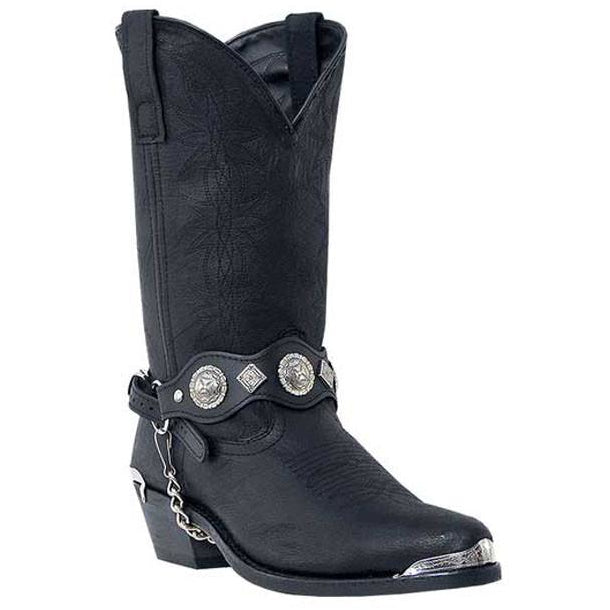 "Dingo Mens 12"" Black All Pigskin Boot - Pete's Town Western Wear"