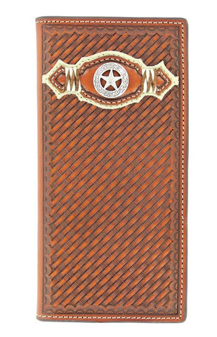 Nocona Basket-weave with Star Rodeo Wallet - Pete's Town Western Wear