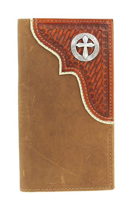 Nocona Tooled Cross Rodeo Wallet - Pete's Town Western Wear