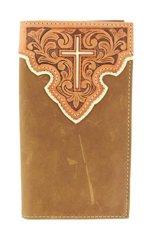 Nocona Embossed Contrast Cross Rodeo Wallet