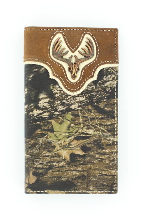 Nocona Mossy Oak with Deer Skull Rodeo Wallet - Pete's Town Western Wear