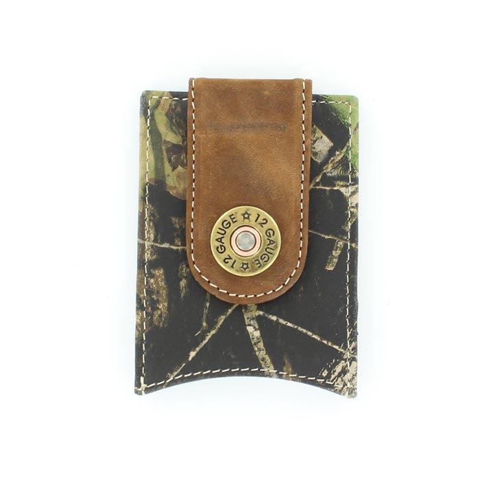 Nocona Mossy Oak with Shotgun Shell Money clip - Pete's Town Western Wear