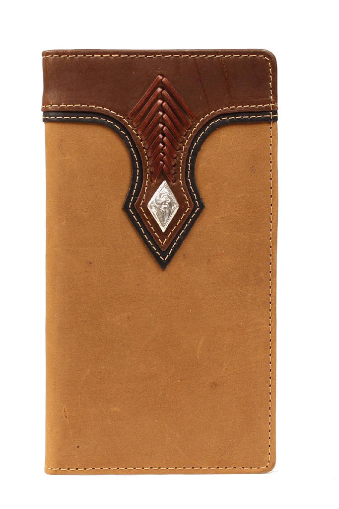 Nocona Smooth Leather with Diamond Rodeo Wallet - Pete's Town Western Wear