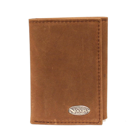 Nocona Smooth Leather Tri-Fold - Pete's Town Western Wear