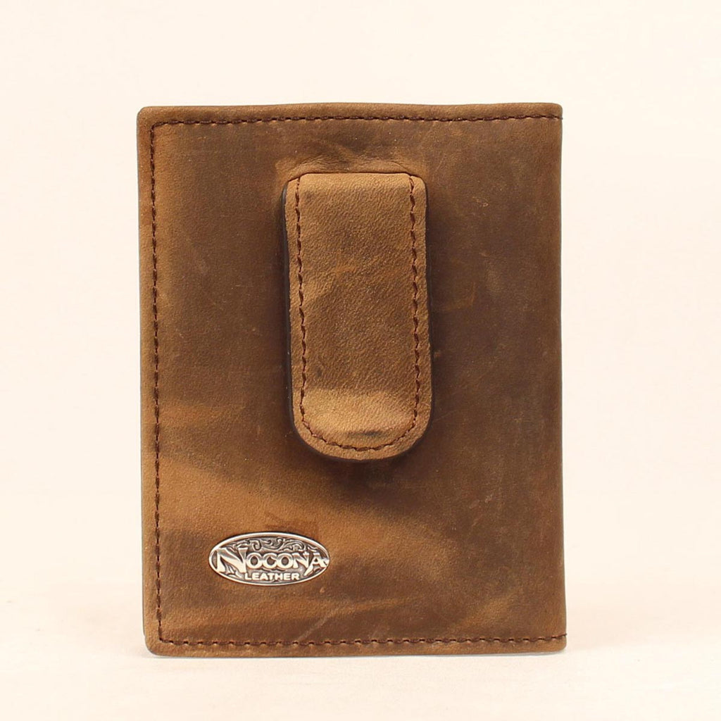 Nocona Smooth Leather Bi-Fold Money clip - Pete's Town Western Wear