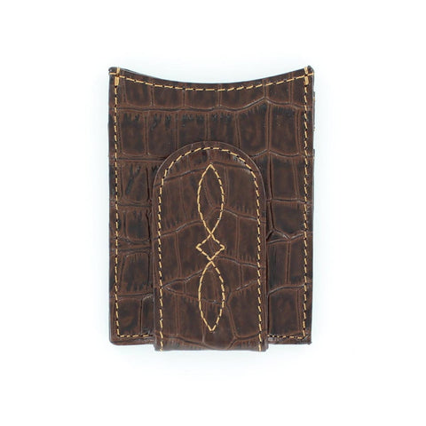 Nocona Croc Print Money Clip
