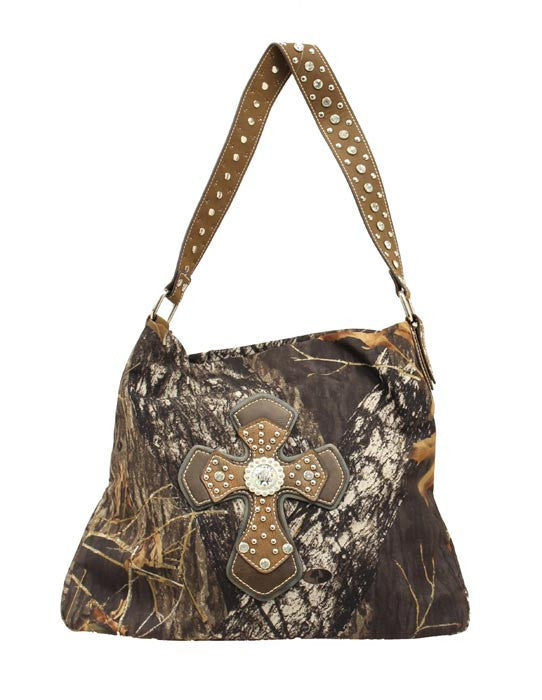 Ladies Nocona Bucket Cross Camo Purse - Pete's Town Western Wear