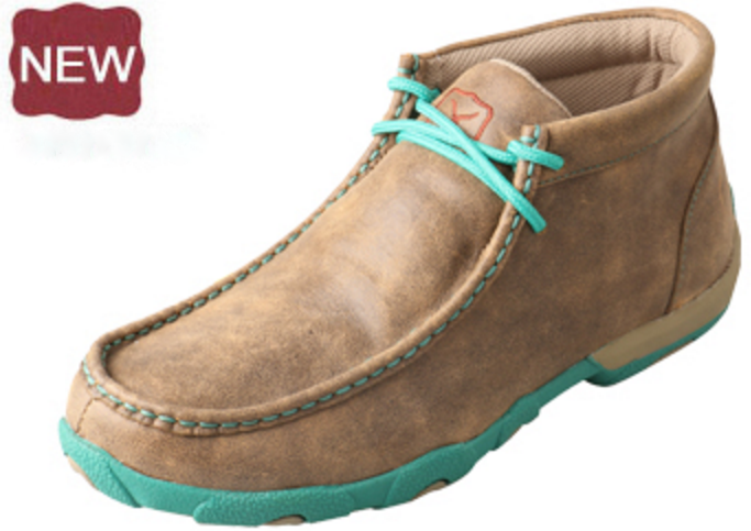 Twisted X Women's Turquoise Driving Moccasin Western Casual Shoes - Pete's Town Western Wear