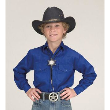 Childs Long Sleeve Royal Blue Western Yoke Shirt - Pete's Town Western Wear