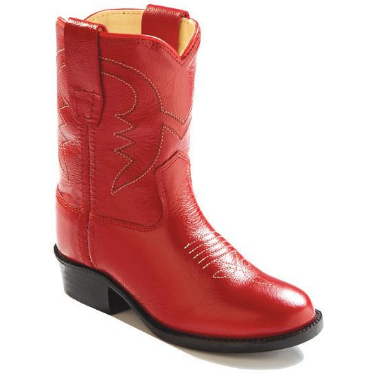 Jama Infant's and Toddlers All Red Leather Western Cowgirl Boots - Pete's Town Western Wear
