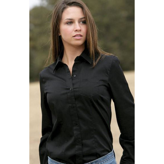 Cruel Ladies Black Long Sleeve Logo Shirt - Pete's Town Western Wear