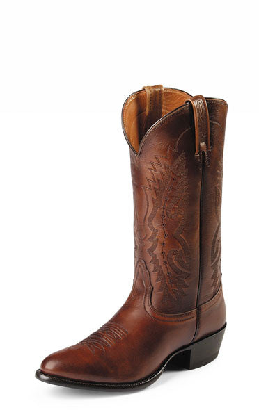 "Nocona Men's 13"" Antique Tan Imperial Calf Leather Cowboy Boots - Pete's Town Western Wear"