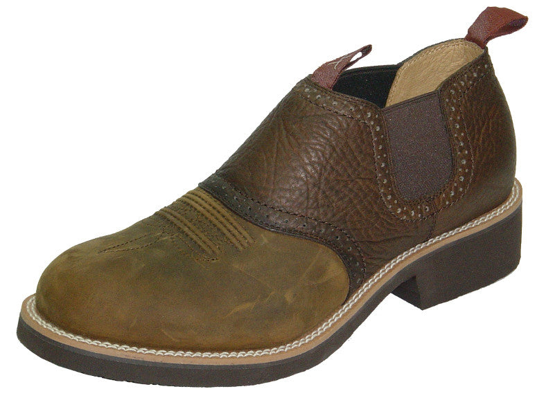 f0e6f4857d4 Twisted X Men's Cow Dog Distressed Western Style Leather Casual Shoe Boot  with Saddle