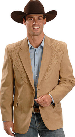 Men's Circle S Galveston Sport Coat Tan - Pete's Town Western Wear