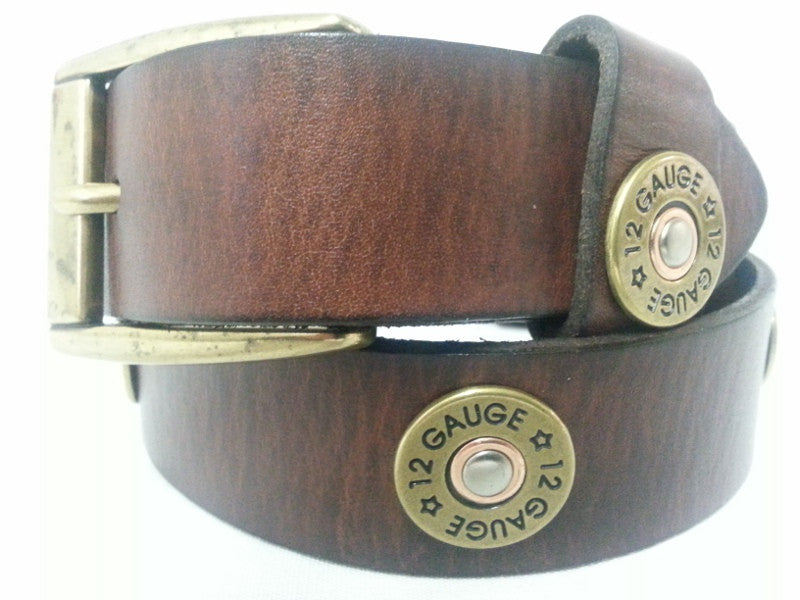 Kids Brown Leather Bullet Belt - Pete's Town Western Wear