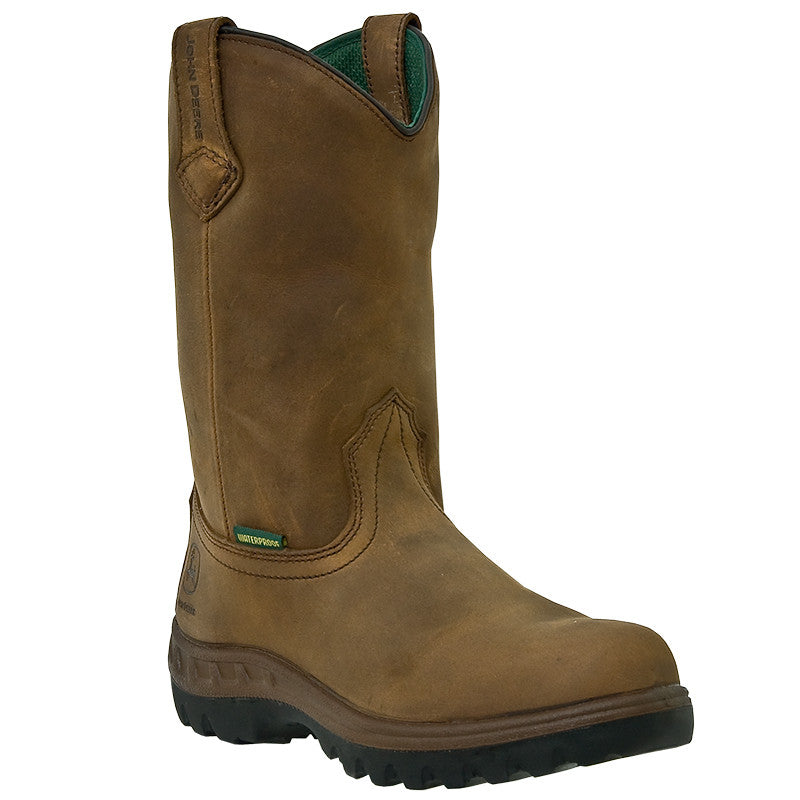 John Deere Men's WCT Waterproof Tan Wellington Work Boots - Pete's Town Western Wear