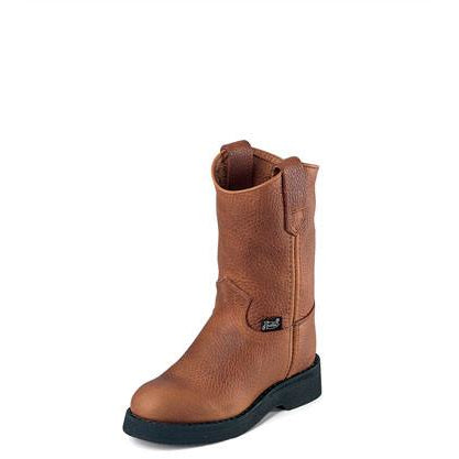 Justin Children's Copper Caprice Pull on Work Boots - Pete's Town Western Wear