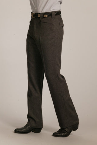Men's Circle S Heather Boise Western Suit Slacks Charcoal - Pete's Town Western Wear