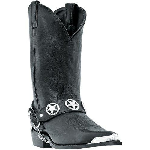 "Dingo Mens 12"" Black LA Rcckers Leather Motorcycle Harness Boots - Pete's Town Western Wear"