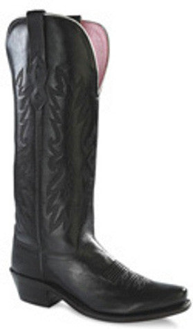 "Old West Ladies 14"" Black Western Fashion Cowgirl Boots - Pete's Town Western Wear"