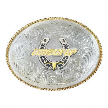 Montana Silversmith Horseshoe Cowboy Up - Pete's Town Western Wear