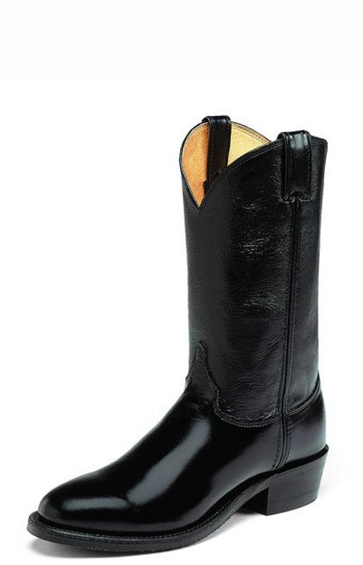 Justin Men's Western Collection Black Leather Trooper Boots - Pete's Town Western Wear