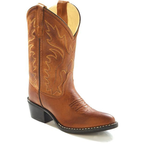 Jama Youth Western Cowboy Boots Tan Canyon Corona Leather - Pete's Town Western Wear