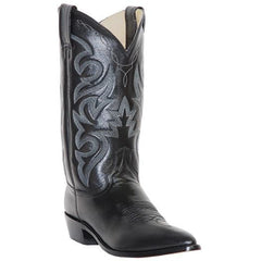 Dan Post Men's Traditional Black Leather Western Cowboy Boot