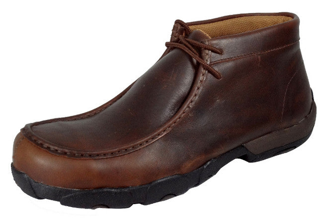 Twisted X Mens Composite Toe Oiled Brown Lace Up Work Shoes - Pete's Town Western Wear
