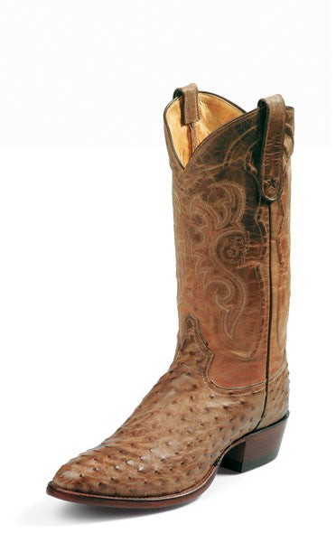 Tony Lama Men's Exotic Antique Tan Full Quill Ostrich Boots - Pete's Town Western Wear