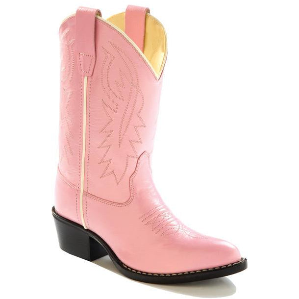 Jama Child's Pink Western Cowgirl Boots Corona Leather - Pete's Town Western Wear