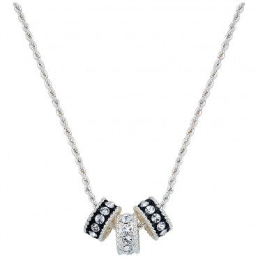 Montana Silversmiths Ladies Crystal Shine Three Ring Necklace - Pete's Town Western Wear
