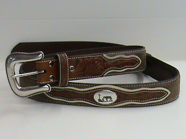 Nocona Men's Praying Cowboy Belt - Pete's Town Western Wear