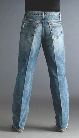 Men's Cinch Jeans White Label Relaxed Fit Light Stonewash - Pete's Town Western Wear