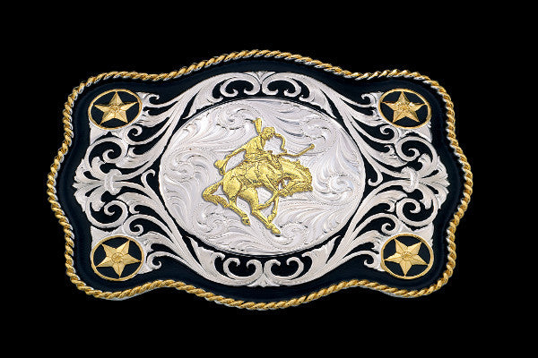 Montana SilverSmith Saddle Bronc Rider Sheridan Buckle Buckle - Pete's Town Western Wear